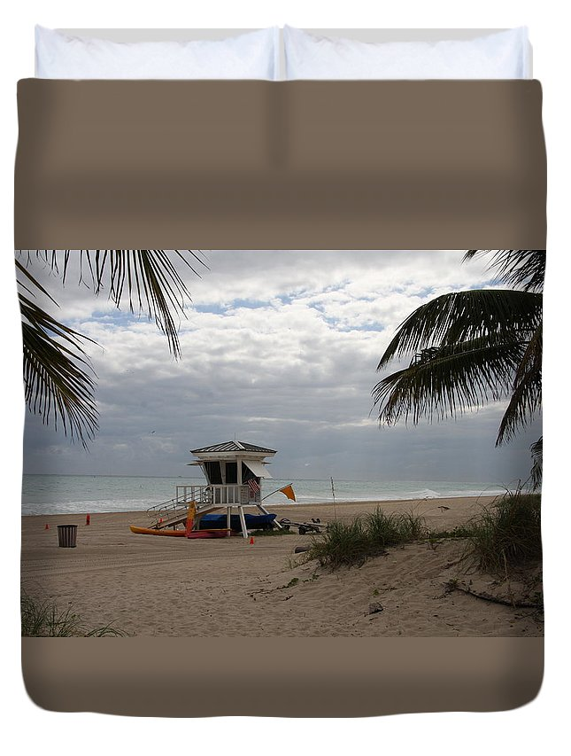 Baywatch Duvet Cover featuring the photograph Guarded Area by Christiane Schulze Art And Photography