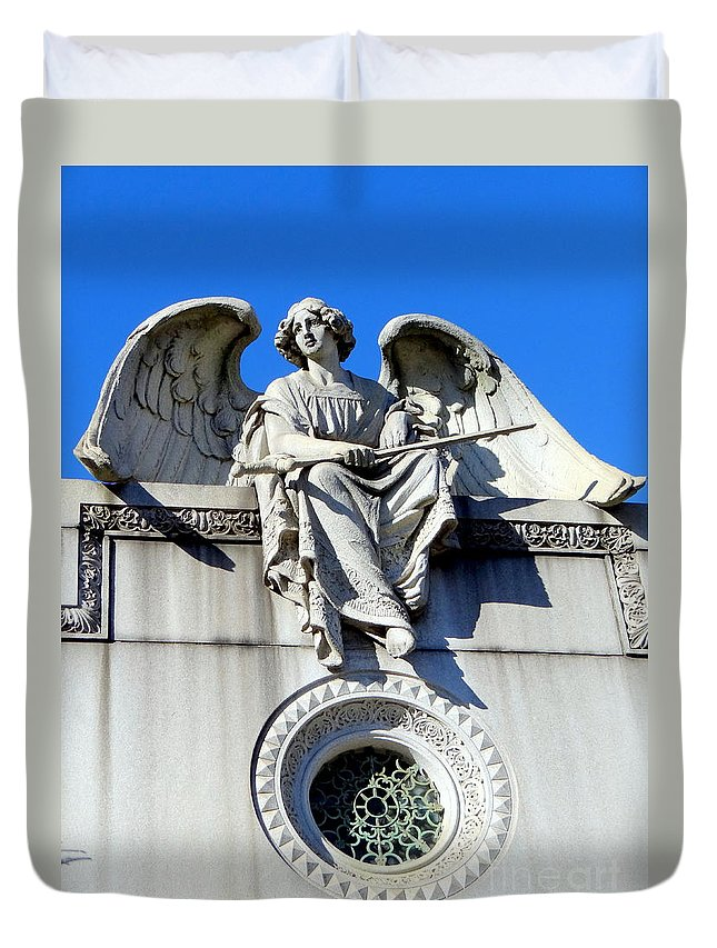Angels Duvet Cover featuring the photograph Guardian Angel by Ed Weidman