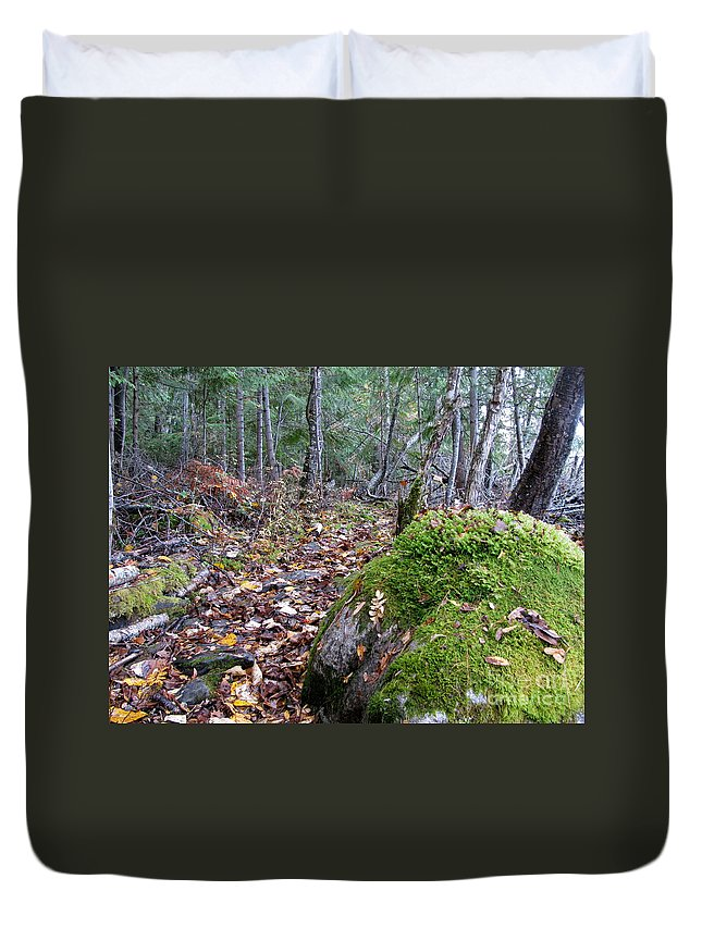 Rock Duvet Cover featuring the photograph Guardian Rock by Leone Lund