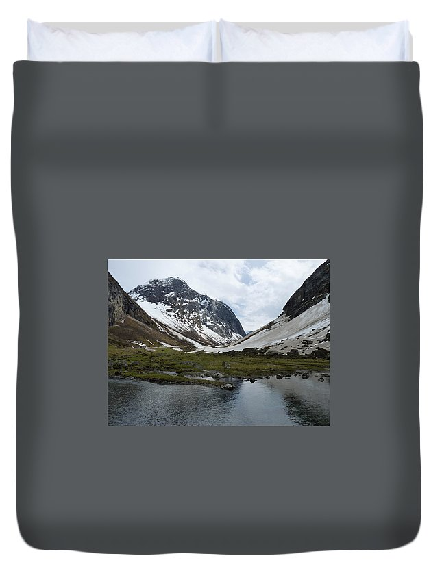 Duvet Cover featuring the photograph Guarding The Clear Spring by Katerina Naumenko