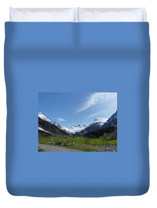 Duvet Cover featuring the photograph Guards Of Peace by Katerina Naumenko