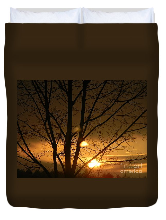 Nature Duvet Cover featuring the photograph Sunset by Owl's View Studio