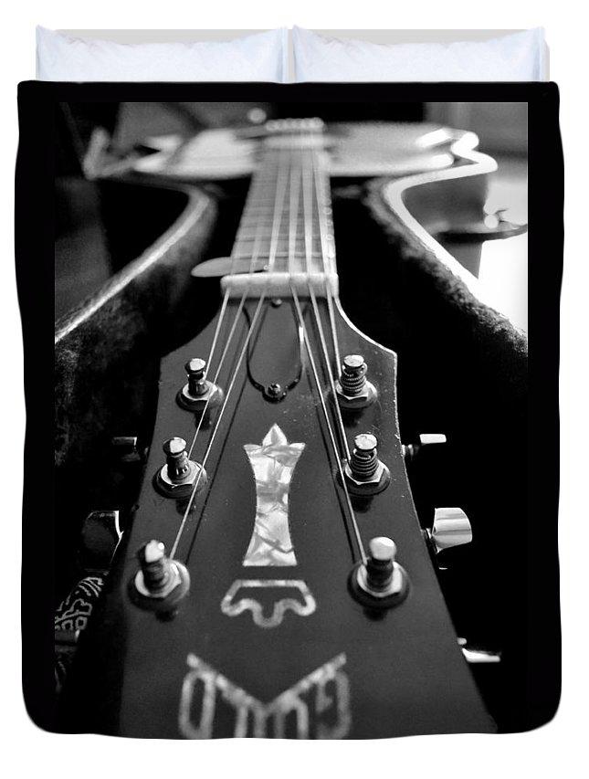 Guitar Duvet Cover featuring the photograph Guild by Michelle Calkins