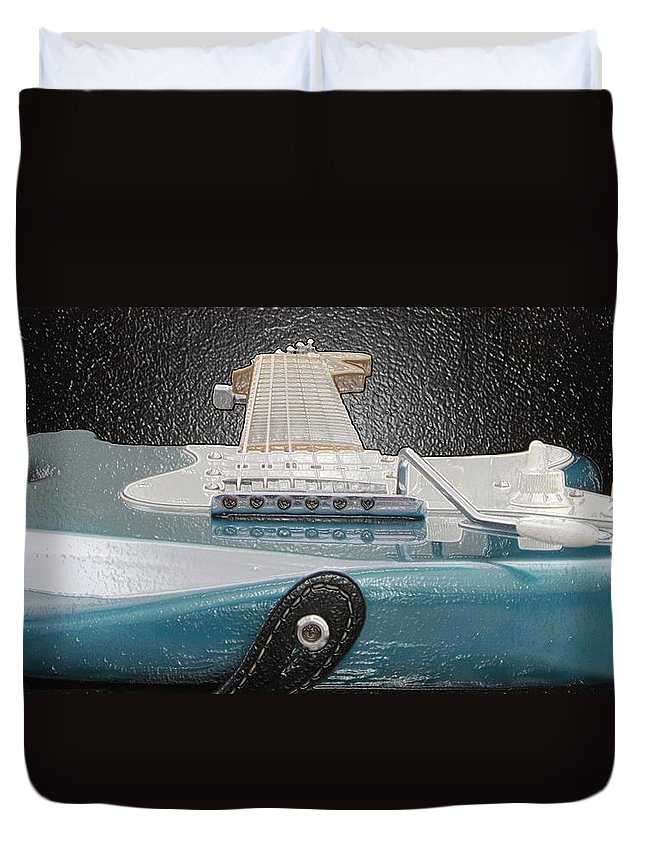 Guitar Duvet Cover featuring the photograph Guitar Art by Shoal Hollingsworth