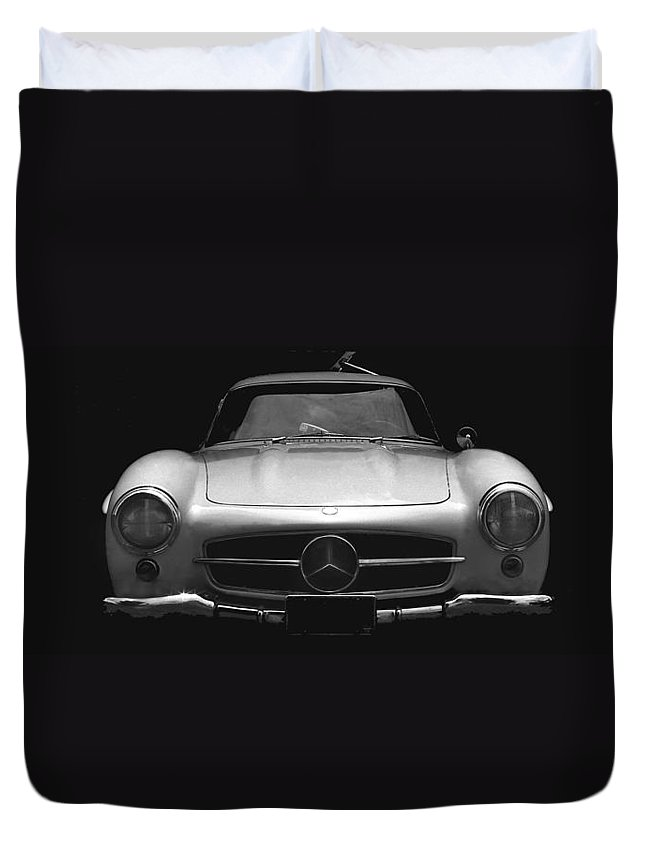 Mercedes Duvet Cover featuring the photograph Gullwing Mercedes by Michael Moore