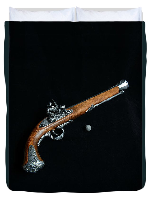 Paul Ward Duvet Cover featuring the photograph Gun - Musket With Musket Ball by Paul Ward
