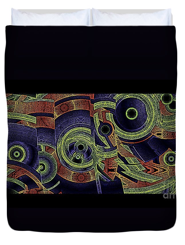 Horizontal Duvet Cover featuring the digital art H Abs Lizzy Tail Wd2 by Dale Crum
