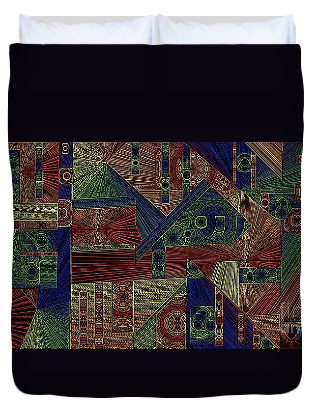 Digital Duvet Cover featuring the digital art H Are They Watching Wd2 by Dale Crum