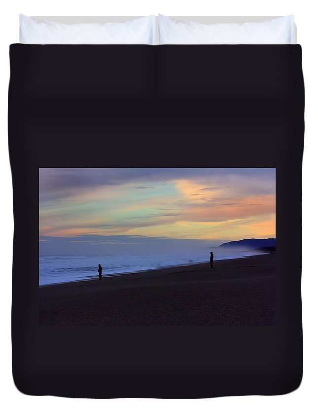 Beach Duvet Cover featuring the photograph Haast Beach by Amanda Stadther