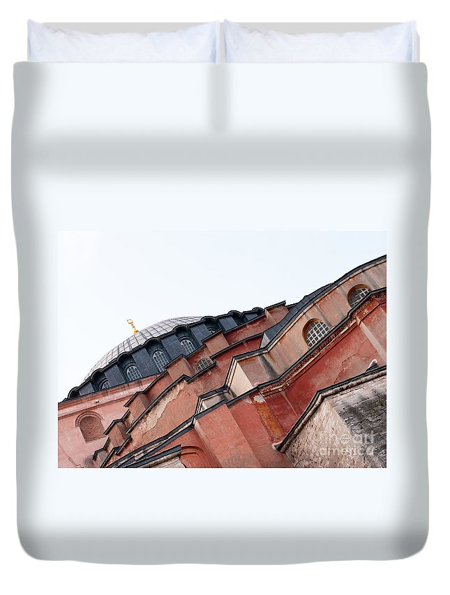 Istanbul Duvet Cover featuring the photograph Hagia Sophia Angles 03 by Rick Piper Photography