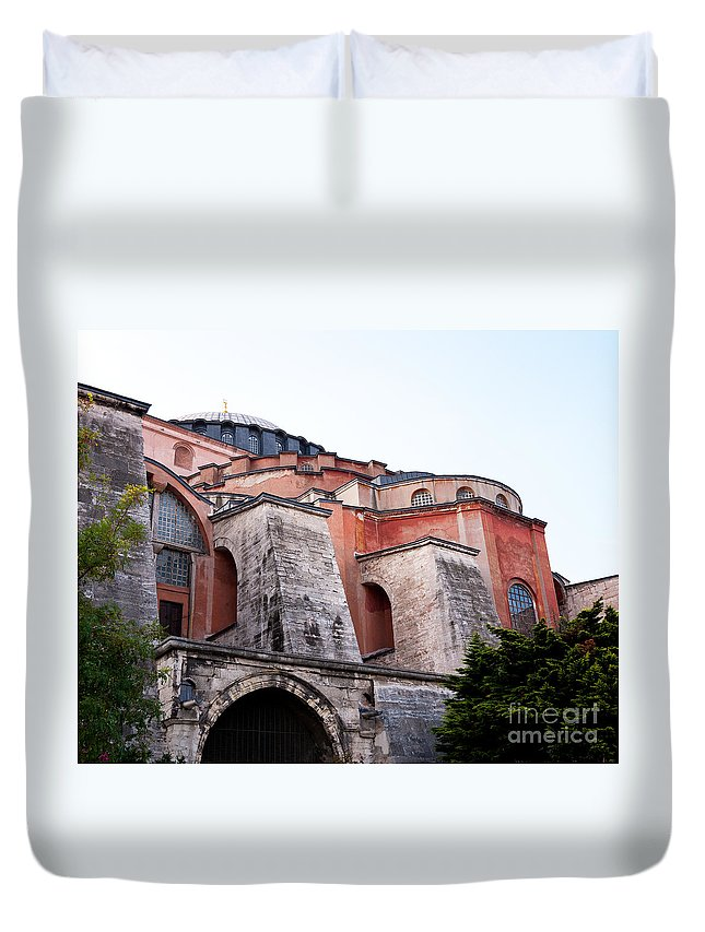 Istanbul Duvet Cover featuring the photograph Hagia Sophia Buttresses by Rick Piper Photography
