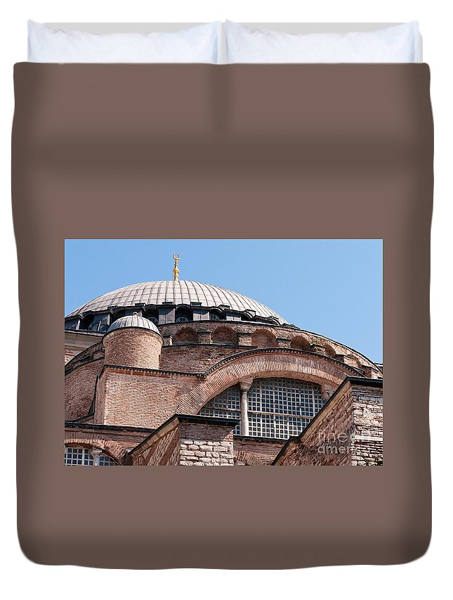Istanbul Duvet Cover featuring the photograph Hagia Sophia Curves 01 by Rick Piper Photography