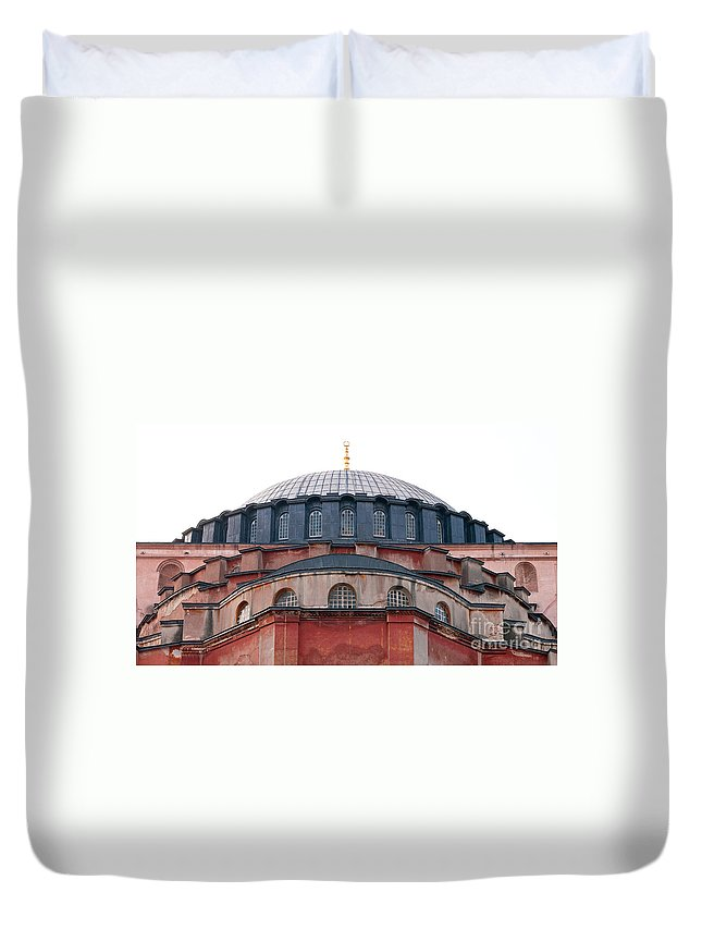 Istanbul Duvet Cover featuring the photograph Hagia Sophia Curves 02 by Rick Piper Photography