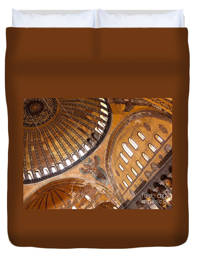 Istanbul Duvet Cover featuring the photograph Hagia Sophia Dome 01 by Rick Piper Photography