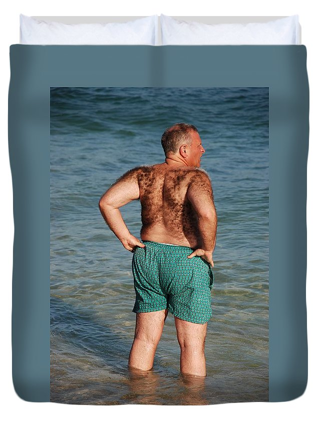Man Duvet Cover featuring the photograph Hairy Ocean by Rob Hans