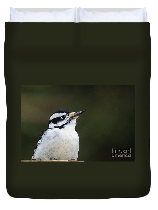 Duvet Cover featuring the photograph Hairy Profile by Cheryl Baxter