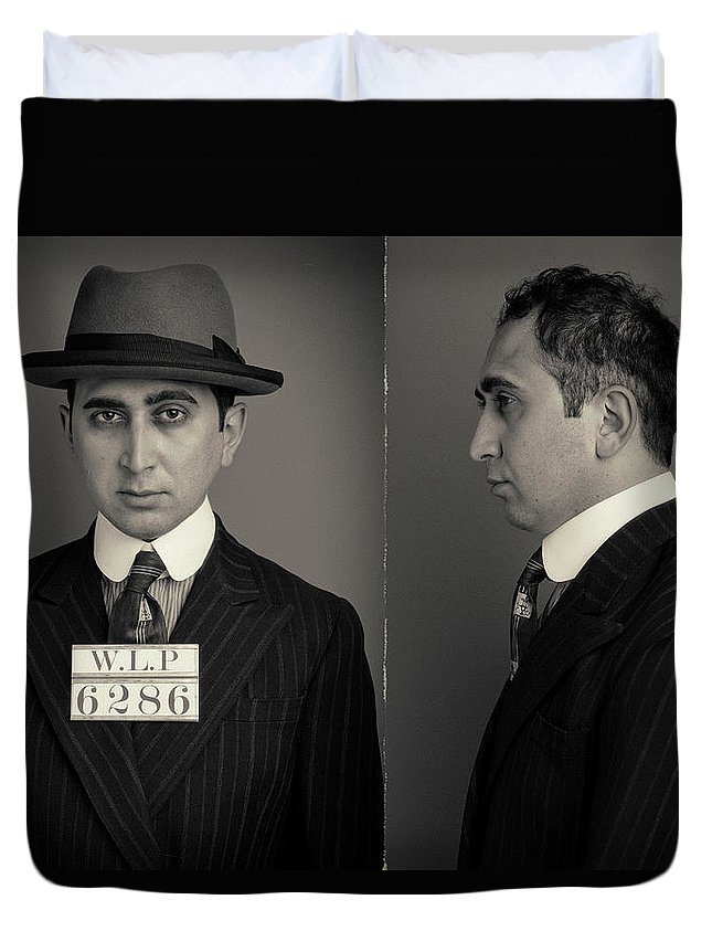 Guilt Duvet Cover featuring the photograph Hakan The Boss Wanted Mugshot by Nick Dolding