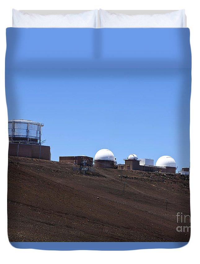 Haleakala Duvet Cover featuring the photograph Haleakala Observatory Haleakala National Park by Jason O Watson