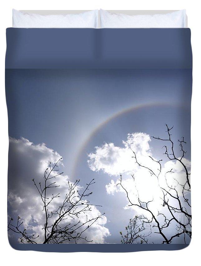 Sun Dog Duvet Cover featuring the photograph Half Bow by Jacqueline Athmann