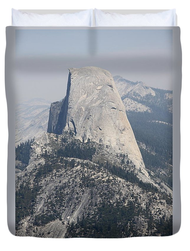Glacier Point Duvet Cover featuring the photograph Half Dome Glacier Point by Christiane Schulze Art And Photography