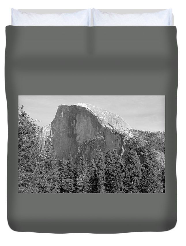 Adventure Duvet Cover featuring the photograph Half Dome Yosemite by Heidi Smith