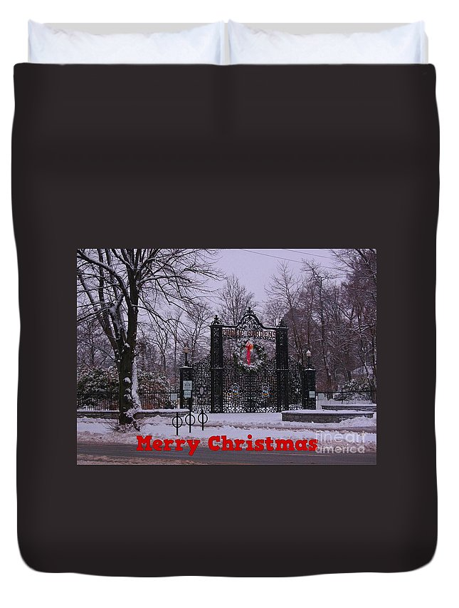 Halifax Christmas Duvet Cover featuring the photograph Halifax Christmas by John Malone