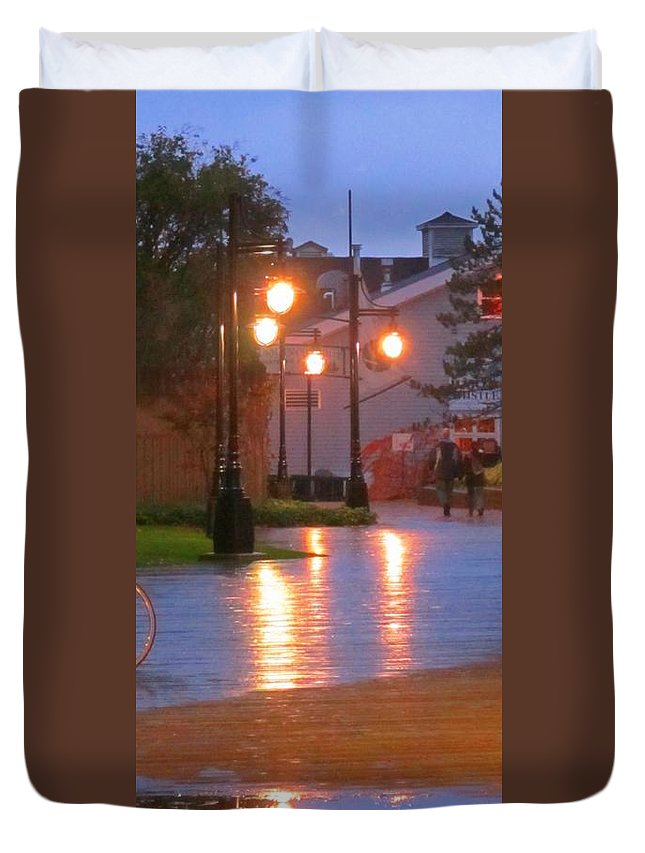 Halifax Romance Images Duvet Cover featuring the photograph Halifax Romance by John Malone Halifax Photographer