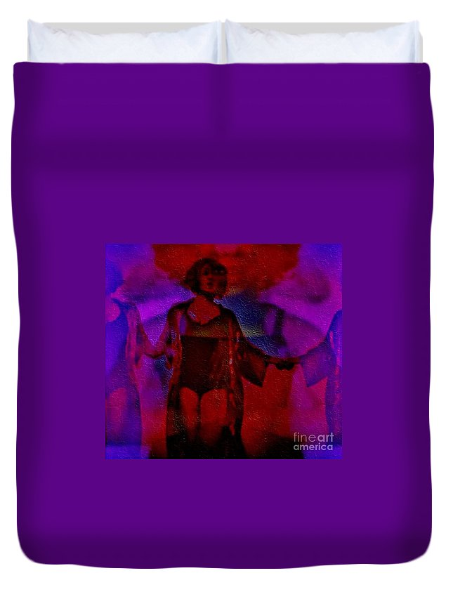Duvet Cover featuring the photograph Hallucinatory by Jessica Shelton