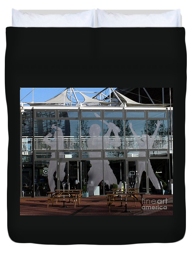 Cricket Duvet Cover featuring the photograph Hampshire County Cricket Glass Pavilion by Terri Waters