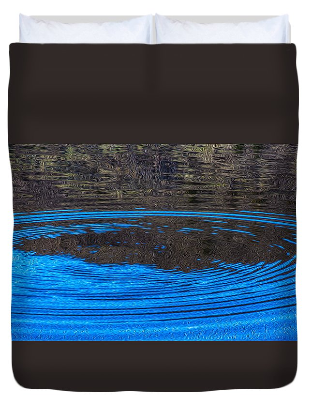 Ripple Duvet Cover featuring the painting Handy Ripples by Omaste Witkowski