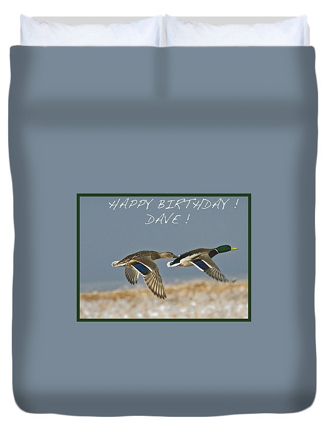 Birthday Duvet Cover featuring the photograph Happy Birthday Dave by Rob Mclean