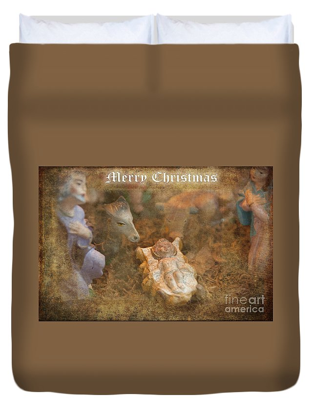 Christmas Duvet Cover featuring the photograph Happy Birthday Jesus by David Arment