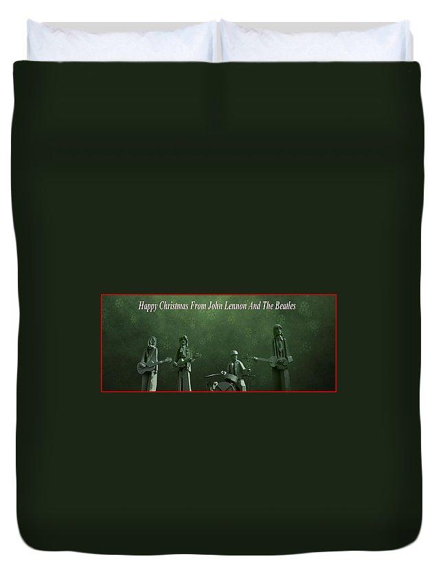 Happy Christmas From John Lennon Duvet Cover featuring the photograph Happy Christmas From John Lennon by Dan Sproul