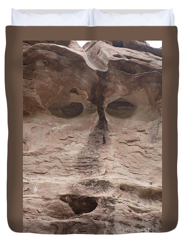 Rock Cliff Duvet Cover featuring the photograph Happy Cliff by Brandi Maher