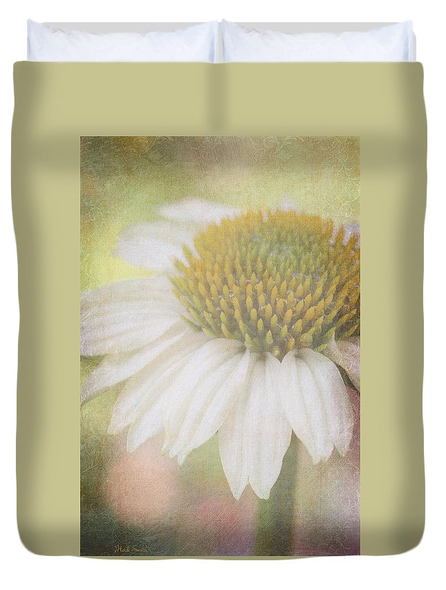 Echinacea Duvet Cover featuring the photograph Happy Days by Heidi Smith