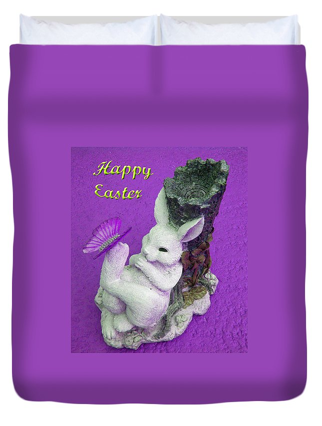 Easter Card Duvet Cover featuring the photograph Happy Easter Card 4 by Aimee L Maher ALM GALLERY