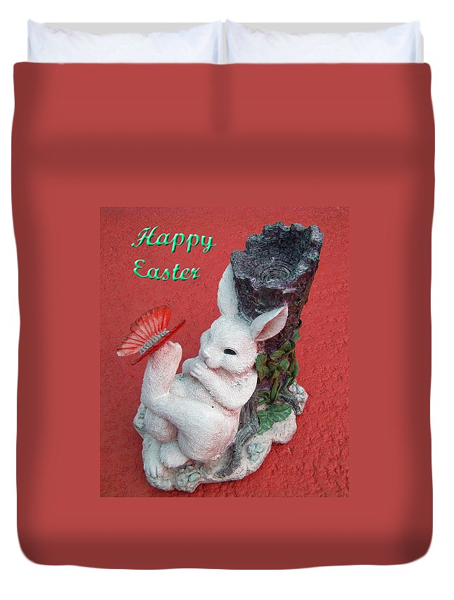 Easter Card Duvet Cover featuring the photograph Happy Easter Card 5 by Aimee L Maher ALM GALLERY