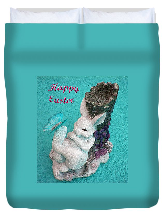 Easter Card Duvet Cover featuring the photograph Happy Easter Card 6 by Aimee L Maher ALM GALLERY