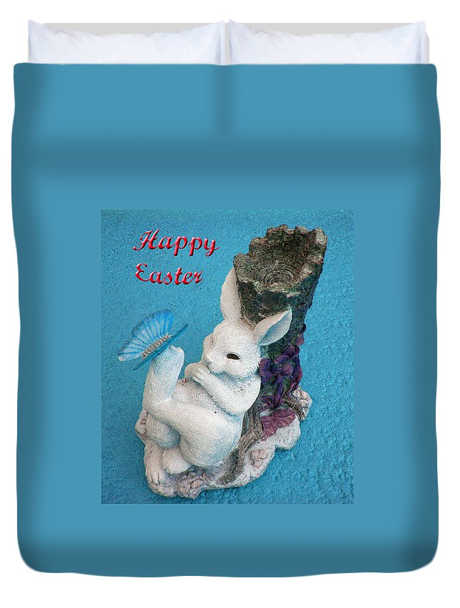 Easter Card Duvet Cover featuring the photograph Happy Easter Card 7 by Aimee L Maher ALM GALLERY