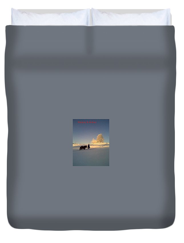 Winter Duvet Cover featuring the photograph We Had Happy Holidays But They Were Cold by Hilde Widerberg