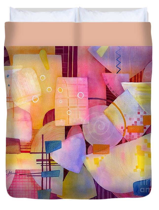 Food Duvet Cover featuring the painting Happy Hour by Hailey E Herrera
