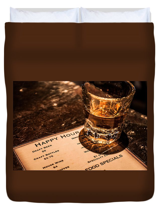 Scotch Duvet Cover featuring the photograph Happy Hour by Lauri Novak