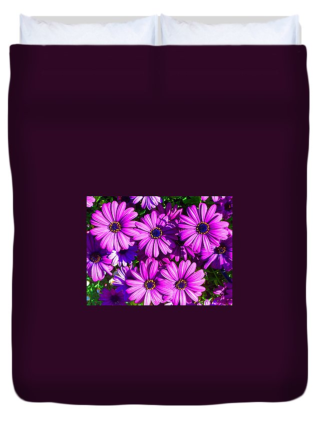 Beautiful Flowers Duvet Cover featuring the photograph Happy by Julia Ivanovna Willhite