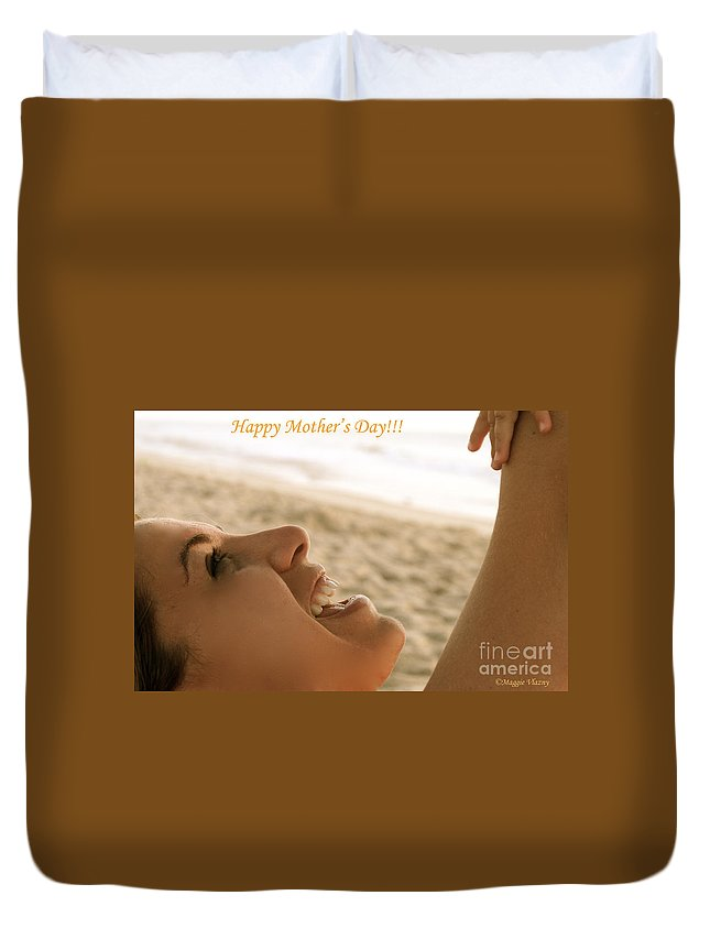Maggie Vlazny Duvet Cover featuring the photograph Happy Mother's Day Card by Femina Photo Art By Maggie