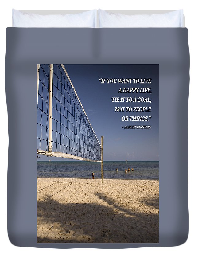 Goal Duvet Cover featuring the photograph Happy Volleyball Goal by Bob Pardue