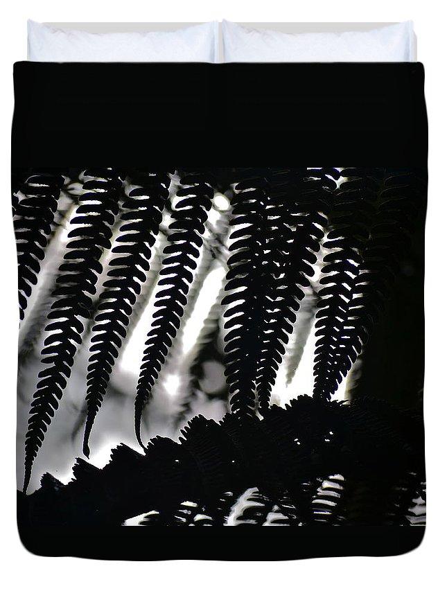 Hawaii Duvet Cover featuring the photograph Hapu'u Fern Silhouette by Lehua Pekelo-Stearns