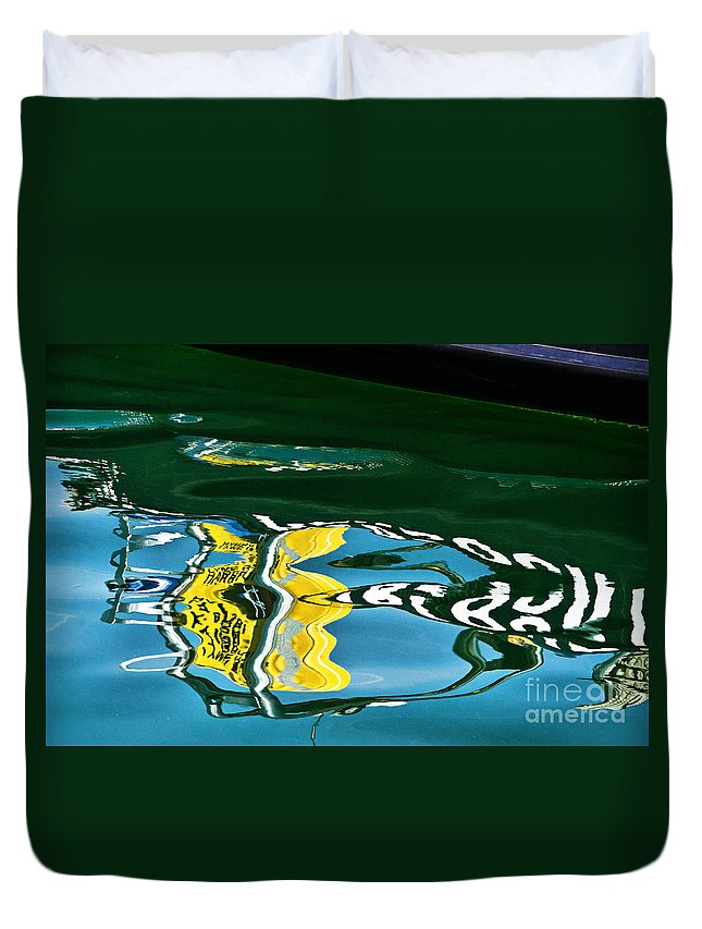 Lyme Regis Duvet Cover featuring the photograph Harbour Master Abstract by Susie Peek