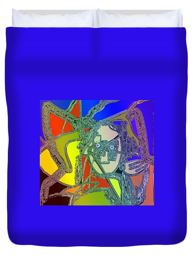 Abstract Duvet Cover featuring the digital art Hard Days Night by Ian MacDonald