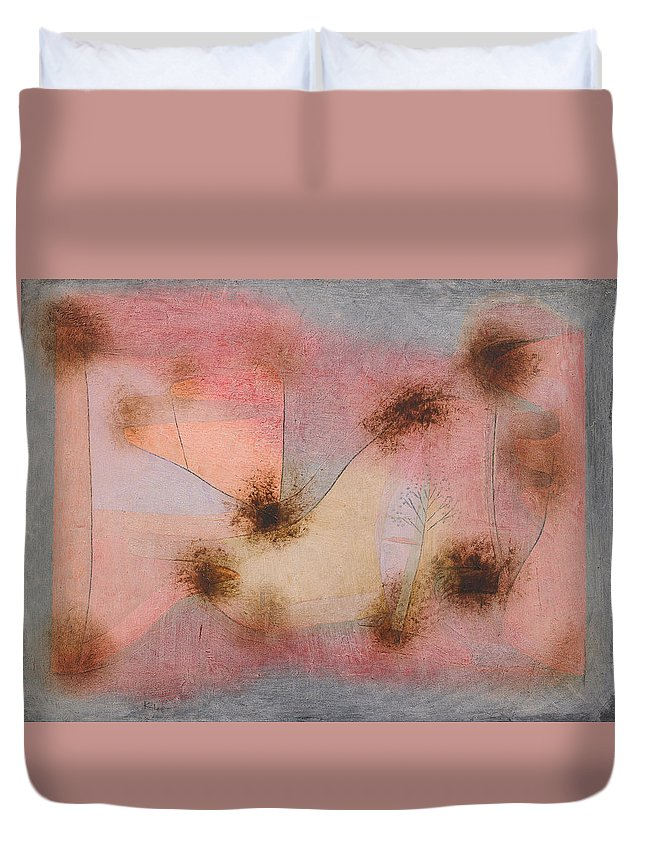 Paul Klee Duvet Cover featuring the painting Hardy Plants by Paul Klee