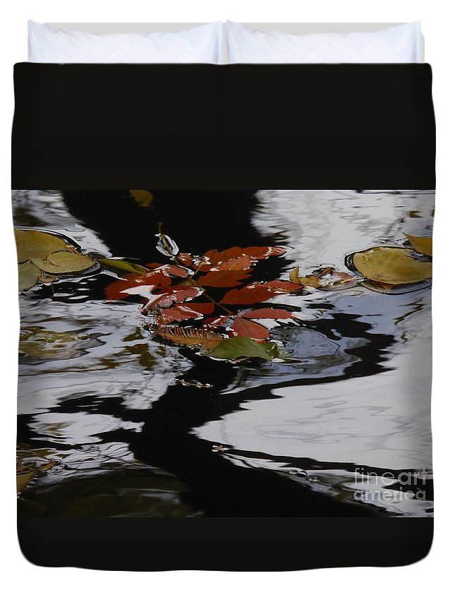 A Collection Of Images In The Lake Duvet Cover featuring the photograph Harmoney by Nili Tochner